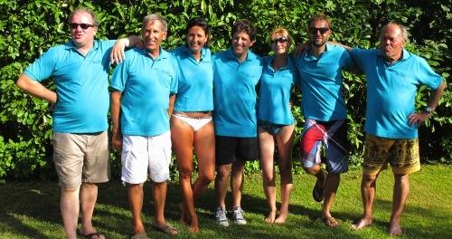 Malcom, Ernest, Anne, Pablo, Nathalie, Nicolas et Gilbert