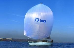 Un nouveau spi pour les 70 ans du skipper